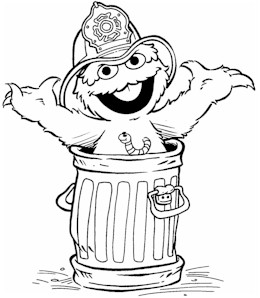 oscar coloring pages - oscar the grouch drawing images
